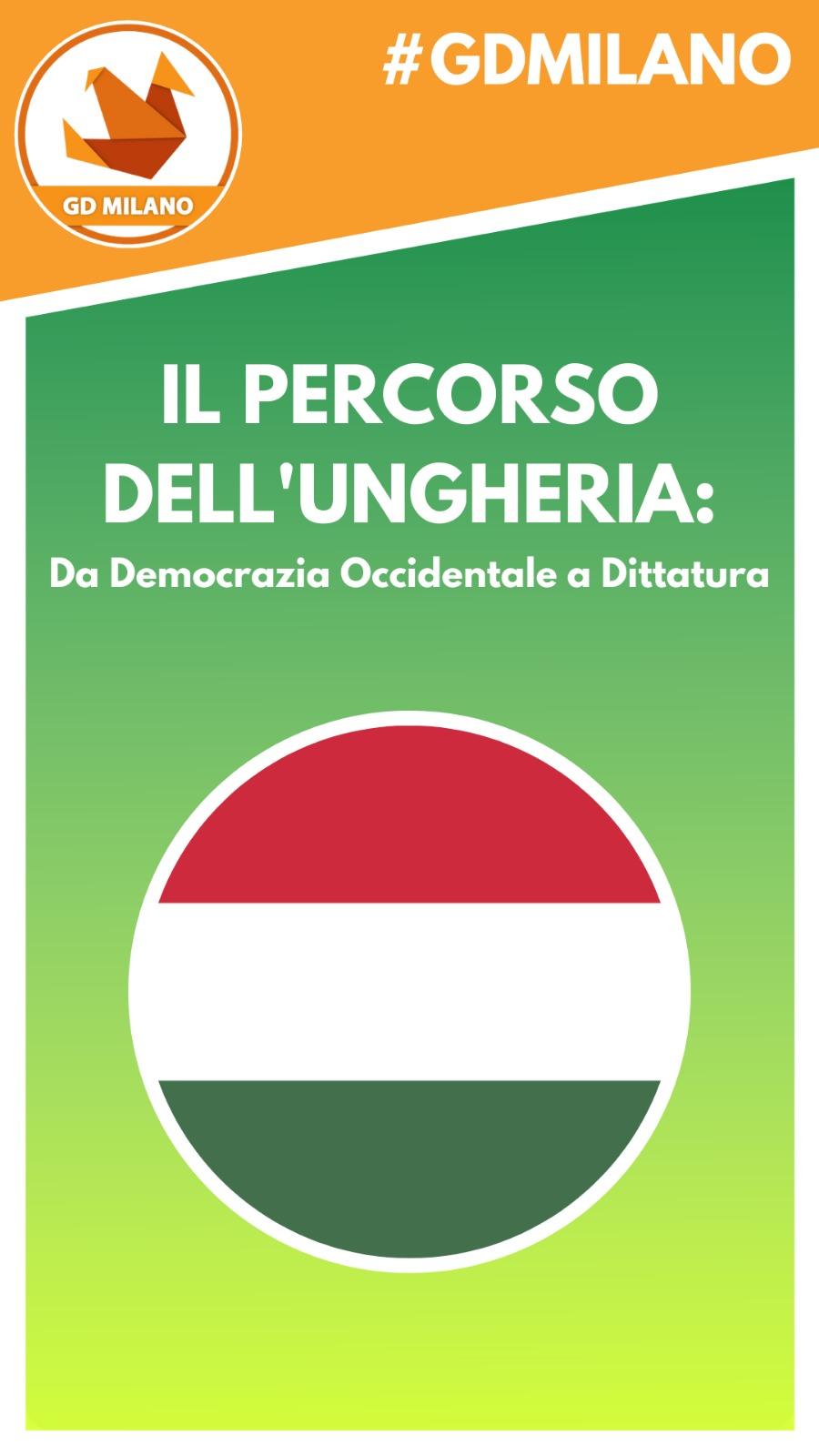 Il percorso dell'Ungheria da democrazia occidentale a dittatura, schematicamente